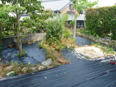 小さい子どもが安心して遊べる庭にリフォーム 大阪府枚方市