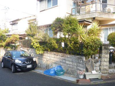 庭の樹木の伐採・剪定|フェンスの外にも枝が伸びていた 京都府八幡市