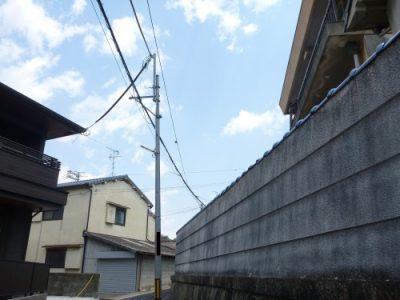 スッキリした塀まわり