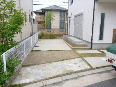 手入れ後の空き家の庭