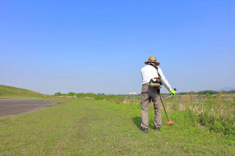 広範囲の草刈り