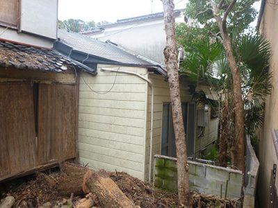 クレーン車を使えない場所での倒木撤去 京都市伏見区