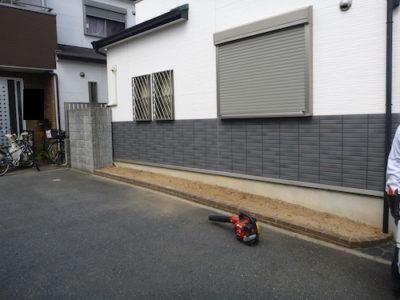 近隣の迷惑になっていた花壇の木を撤去 大阪府枚方市